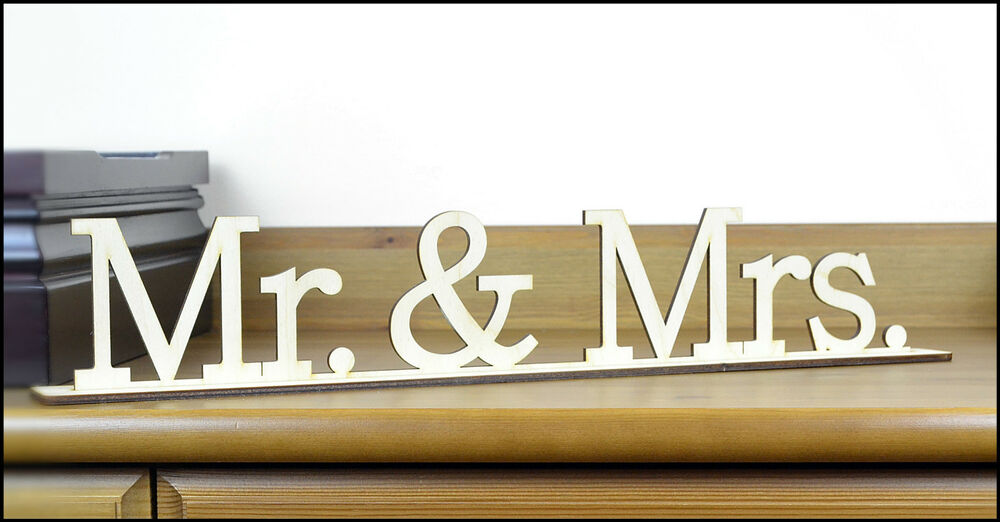 Wood Mr & Mrs Sign / Free Standing Home Decor / Housewares