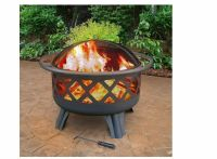 Outdoor Fireplace Steel Fire Pit with Cooking Grate Patio