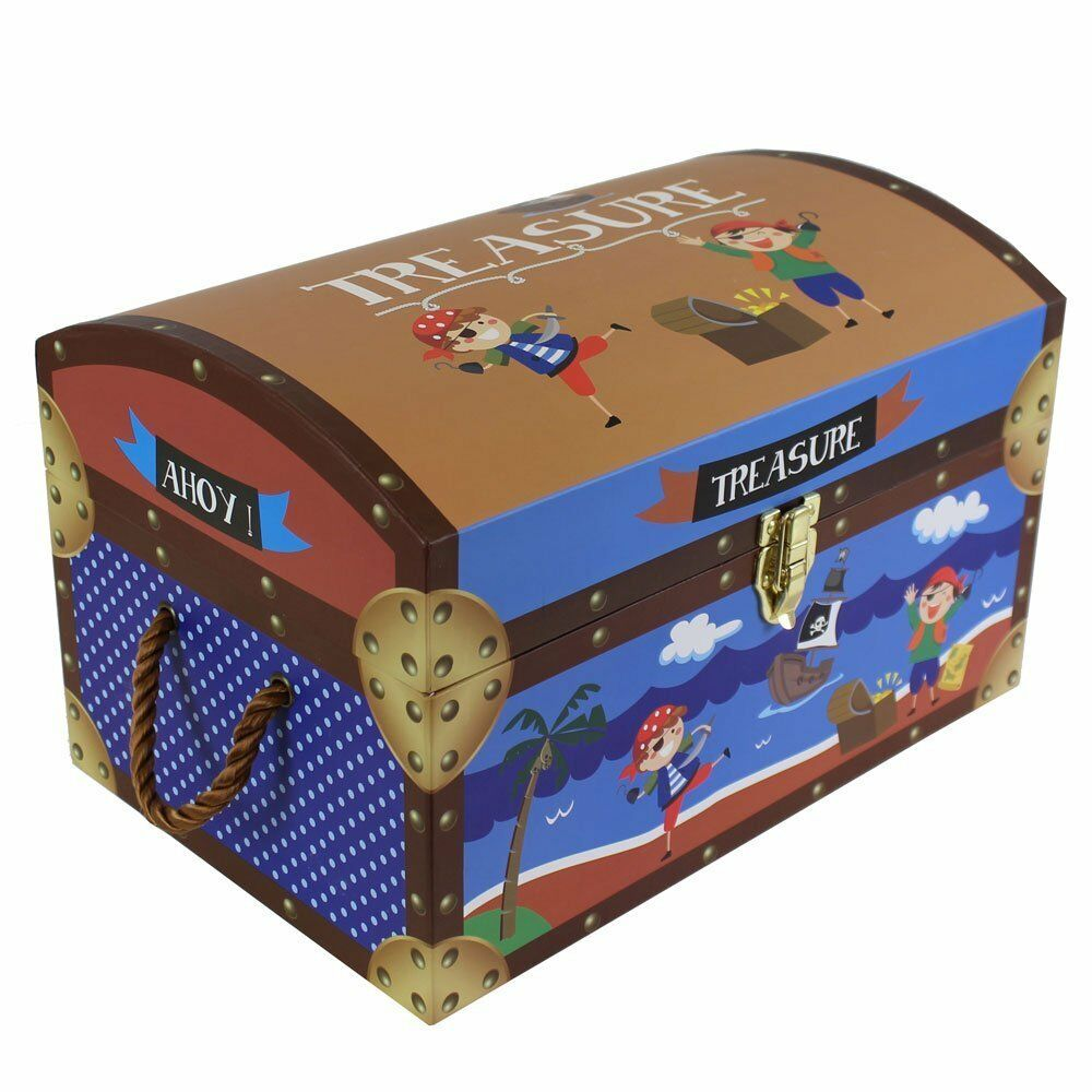 Kids Treasure Chest Toy Box Storage