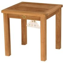 """19.5"""" Square Outdoor Teak Wood Side Table Patio"""