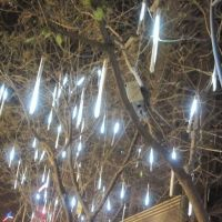 30cm 144 LED Light Meteor Shower Falling Rain Drop Snow