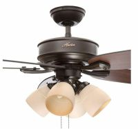 Hunter 52 in. Brushed Nickel Indoor Ceiling Fan W Light ...