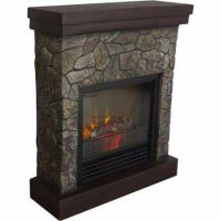 Electric Fireplace Room Heater Stand Furniture Mantle Wood ...