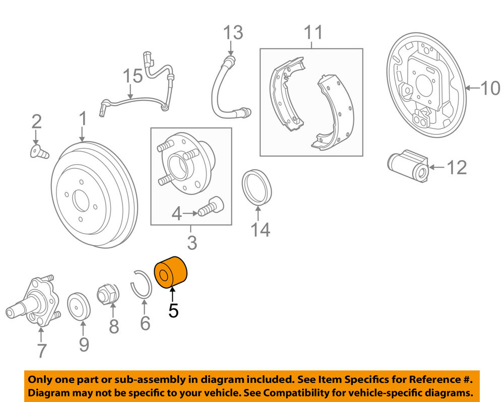 hight resolution of details about chevrolet gm oem 13 15 spark rear wheel bearing 94535214