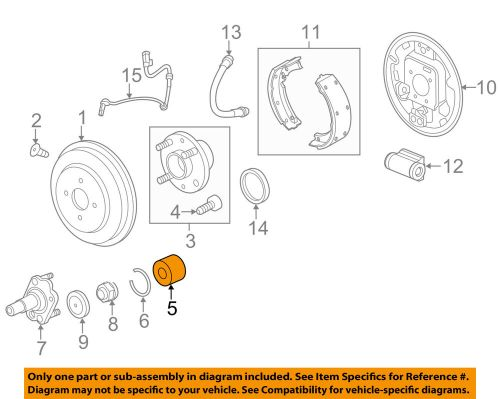 small resolution of details about chevrolet gm oem 13 15 spark rear wheel bearing 94535214