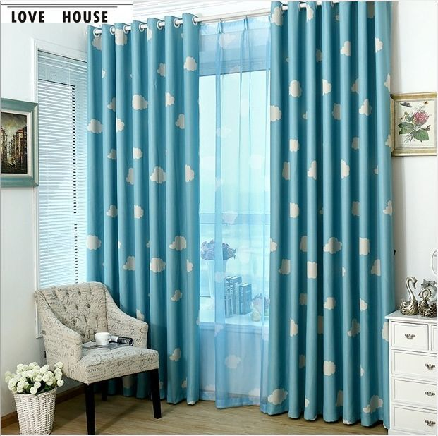 Quality Blockout Eyelet Curtains Blue Pink Drapes Kids