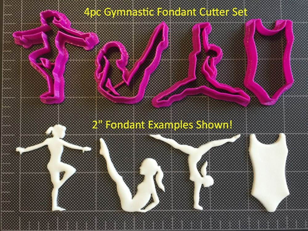 fiesta kitchen corner booth gymnastics cutter set / gymnastic fondant ...