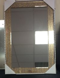 Modern LARGE Rose Gold Glitter Rectangle Mirror NEW ...