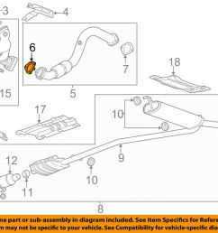 details about gm oem exhaust front pipe gasket 95020217 [ 1000 x 798 Pixel ]