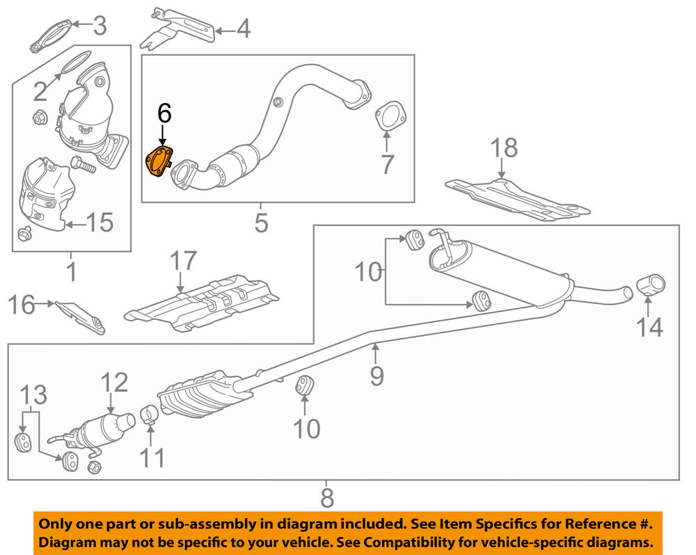 medium resolution of details about gm oem exhaust front pipe gasket 95020217