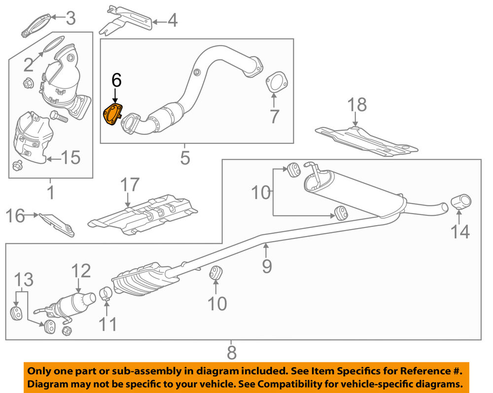 hight resolution of details about gm oem exhaust front pipe gasket 95020217