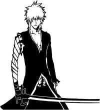 Bleach -- Ichigo Kurosaki Anime Decal Sticker for Car ...