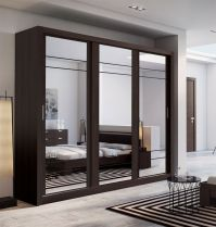 Brand New Modern Bedroom 3 Sliding Door Mirror Wardrobe