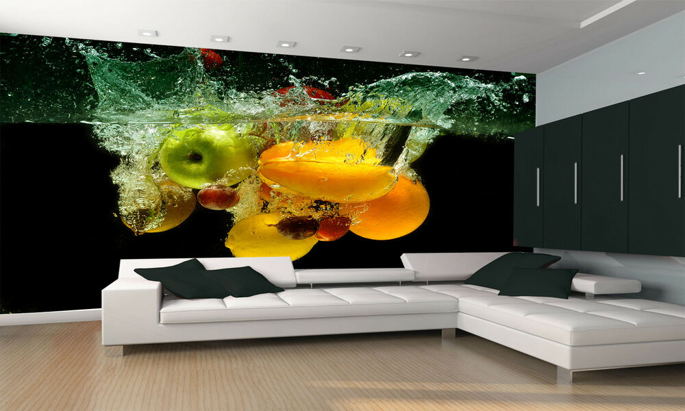 Fresh Fruit and Vegetables Wall Mural Photo Wallpaper