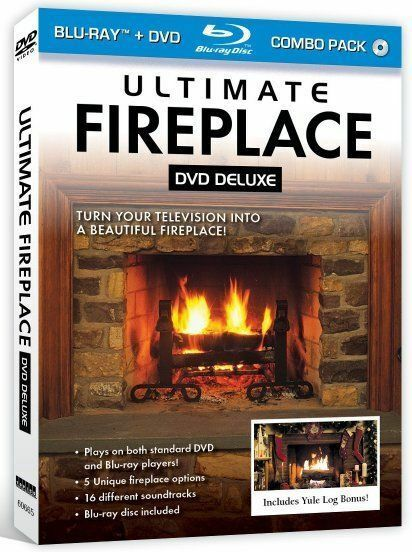 Ultimate Fireplace BluRay  DVD for HD TVs  Mood Screen