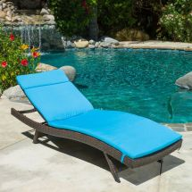 Outdoor Patio Furniture -weather Wicker Chaise Lounge