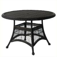 """Outdoor Patio Furniture Wicker 44"""" Round Dining Table in ..."""