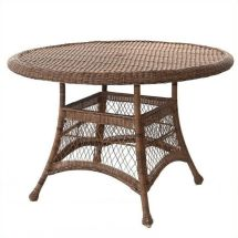 """Outdoor Patio Furniture Wicker 44"""" Dining Table In"""