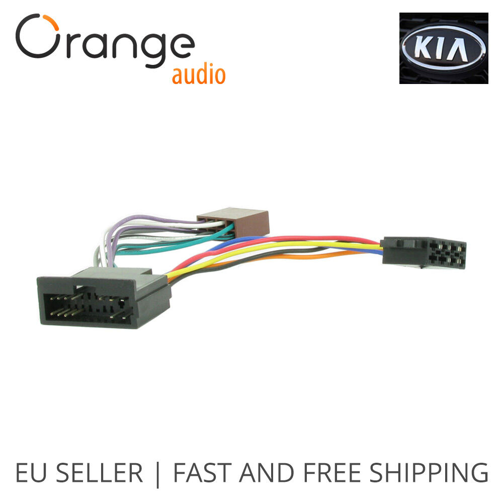 hight resolution of details about wiring harness adapter for kia iso connector stereo plug adaptor type 1