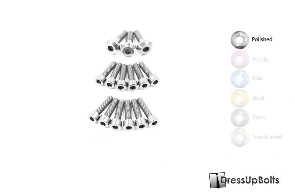 Dress Up Bolts for 93-98 Skyline R33 RB26 Polished Ti