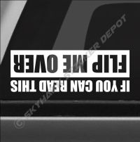 Flip Me Over Funny Bumper Sticker Vinyl Decal Truck SUV
