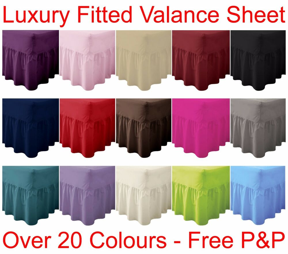Plain Dyed Fitted Valance Sheet PolyCotton Bed Sheet