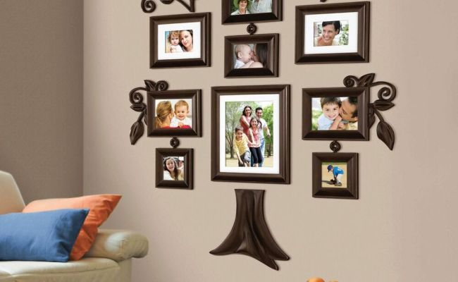 New 9 Piece Family Tree Wall Photo Frame Set Picture