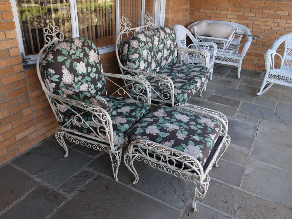 Antique Victorian Outdoor Furniture Set Ebay