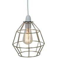 Chrome Industrial Style Cage Ceiling Pendant Light Lamp ...