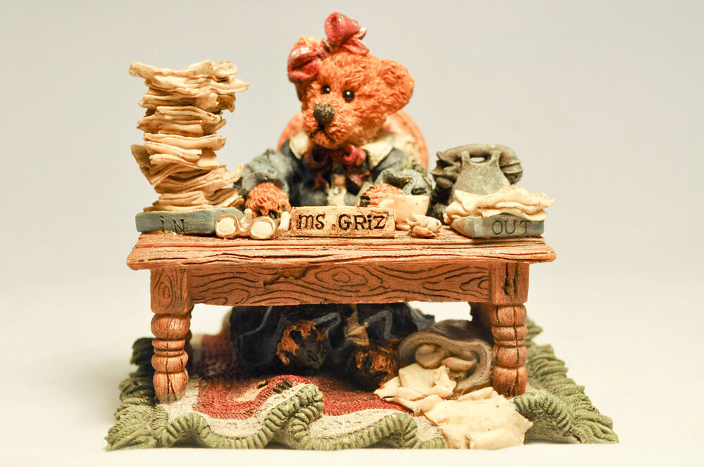 Boyds Bears Amp Friends Ms GrizMonday Morning 02276 Bearstone Collection EBay
