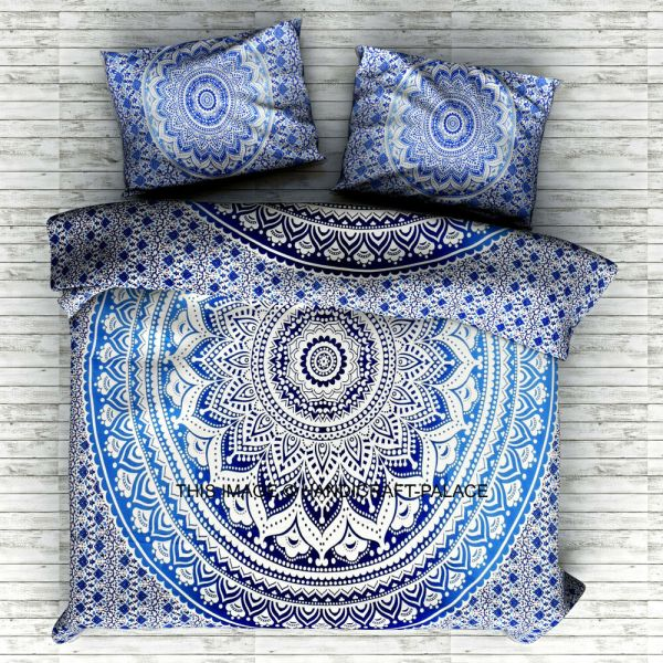 Indian Queen Size Bedding Set Tapestry Hippie Bohemian