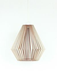 Wood Lamp / Wooden Lamp Shade / Hanging Lamp / Pendant