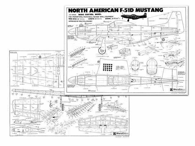 North American F-51D Mustang Full Size Model Airplane Kit