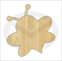 Unfinished Wood Bumble Bee Laser Cutout, Home Decor, Door