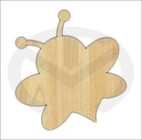 Unfinished Wood Bumble Bee Laser Cutout, Home Decor, Door ...