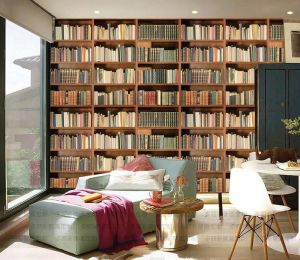study background bookcase classical 3d wall retro rolls paper mural