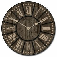 Large wall Santa Fe Clock 10""