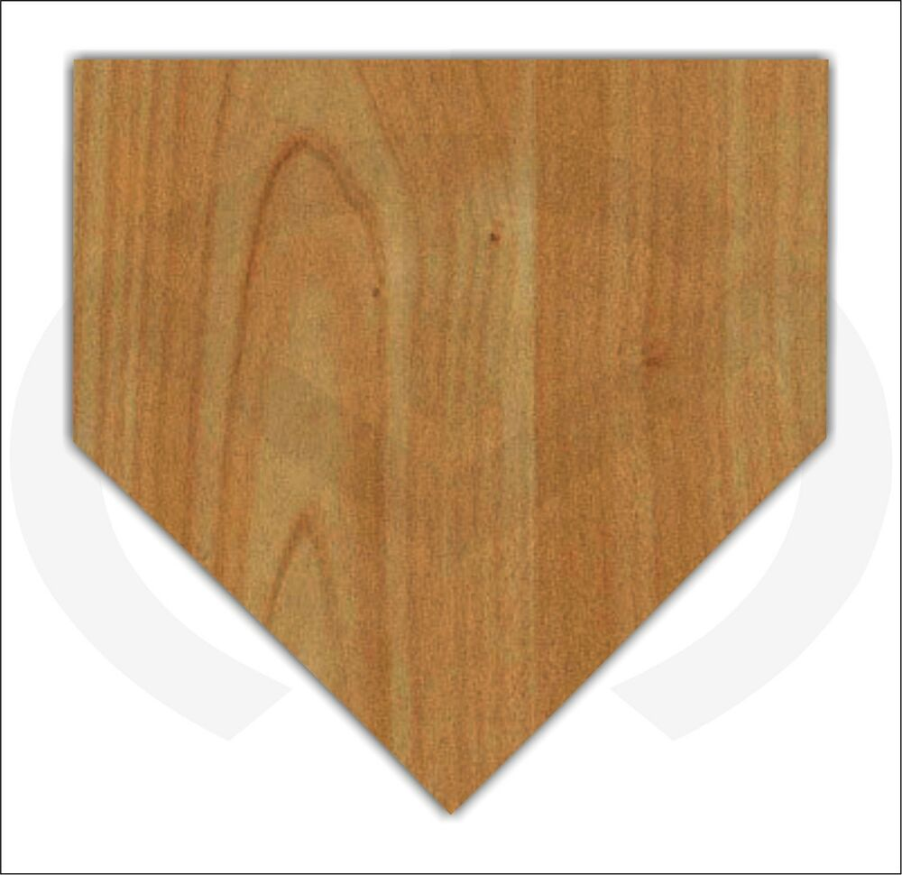 Unfinished Wood Home Plate Door Hanger Laser Cutout, Ready