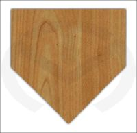 Unfinished Wood Home Plate Door Hanger Laser Cutout, Ready ...