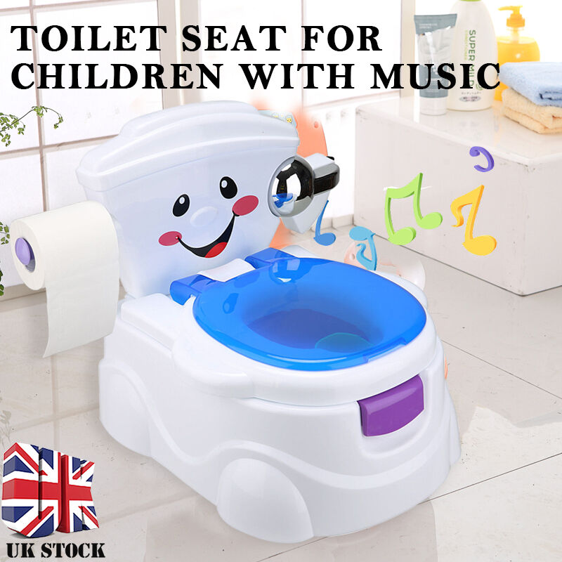 baby chair seat covers london child toddler kids musical toilet potty trainer urinal bathroom | ebay