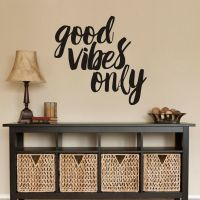 Inspirational Wall Sticker Good Vibes Only Quote Living