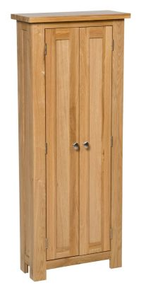 Oak DVD CD Storage Cabinet | Solid Wood Cupboard/Rack ...