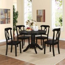 Dining Table Set 5 Piece Chairs Room Kitchen Chair