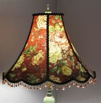 Victorian Floor Lamp Shade with Roses and beads.. Classic ...