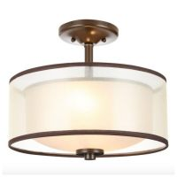 Modern Semi Flush Mount Drum Light Lighting Lamp Ceiling