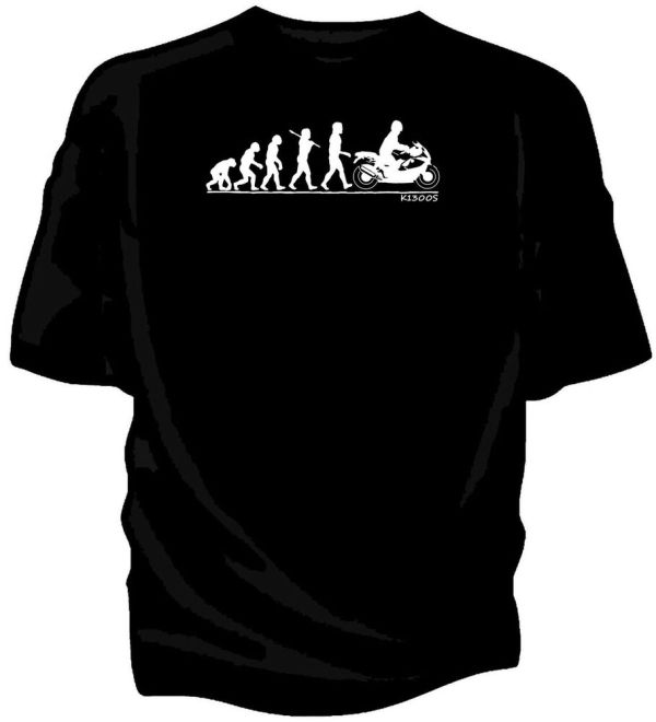 Evolution Of Man Bmw K1300s Classic Motorcycle T-shirt