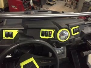 POLARIS RZR XP DASH SWITCH PLATE PANEL LIME SQUEEZE FITS