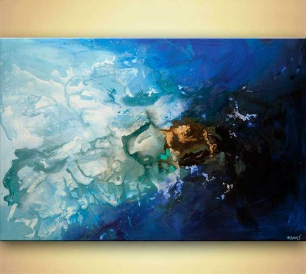 Blue Modern Abstract Art Paintings