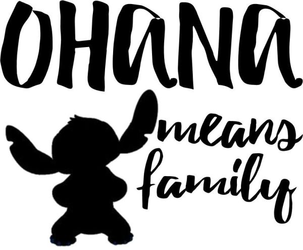 Custom Vinyl Car Decal Run Disney Ohana Means Family