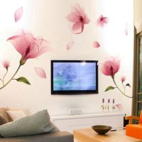 Removable Pink Flower Wall Sticker Vinyl Mural Decals Art ...